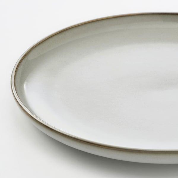 """GLADELIG Assiette, gris, 10 """""""