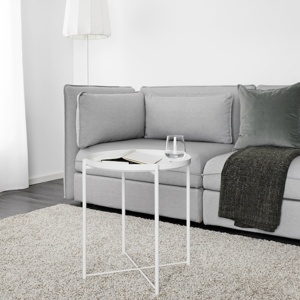 GLADOM Table-plateau, blanc, 17 1/2x20 5/8 ""
