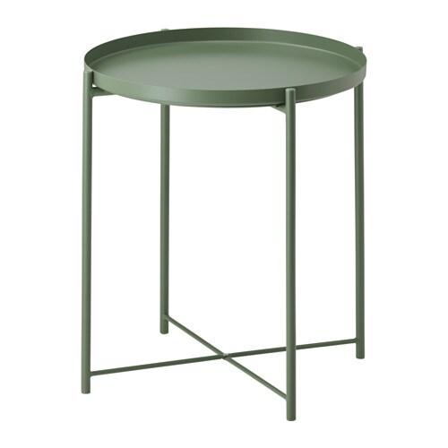 GLADOM Table-plateau, vert foncé vert foncé 45x53 cm