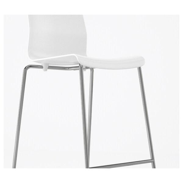 Glenn Tabouret De Bar Blanc Chrome 66cm Magasinez Chez Ikea Ikea