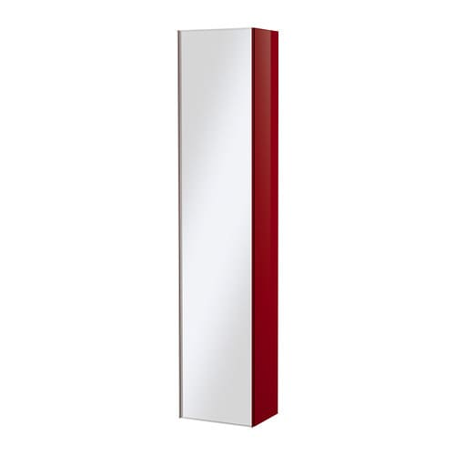 godmorgon armoire haute porte miroir ultrabrillant rouge ikea. Black Bedroom Furniture Sets. Home Design Ideas