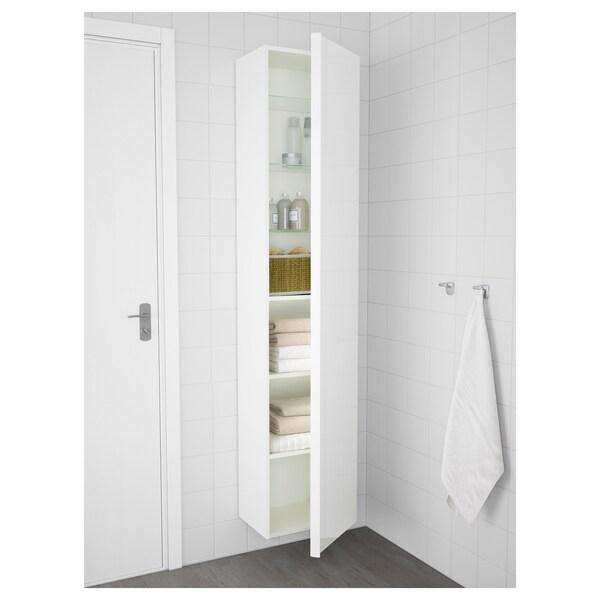 "GODMORGON Armoire haute, ultrabrillant blanc, 15 3/4x12 5/8x75 5/8 """