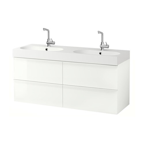Godmorgon br viken meuble pour lavabo 4 tiroirs for Meuble 4 tiroirs ikea
