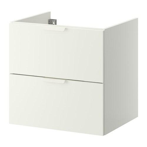Godmorgon meuble pour lavabo 2 tiroirs blanc 60x47x58 cm ikea - Lavabo salle de bain ikea ...
