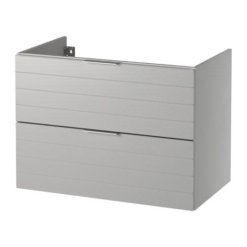 godmorgon meuble pour lavabo 2 tiroirs gris clair 80x47x58 cm ikea. Black Bedroom Furniture Sets. Home Design Ideas