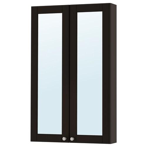 "GODMORGON armoire à pharmacie 2 portes miroir Kasjön gris foncé 23 5/8 "" 5 1/2 "" 37 3/4 """