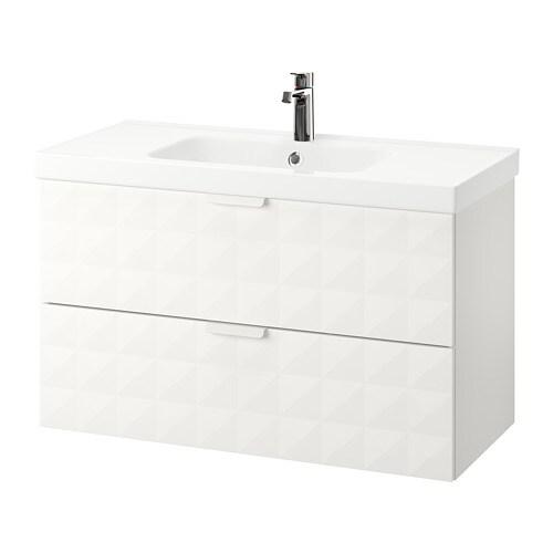 Godmorgon odensvik meuble pour lavabo 2 tiroirs for Meuble 4 tiroirs ikea