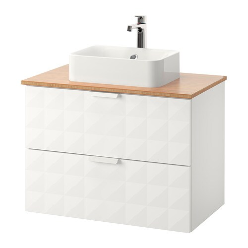 godmorgon tolken h rvik meuble lavabo av lav poser 45x32 bambou resj n blanc ikea. Black Bedroom Furniture Sets. Home Design Ideas