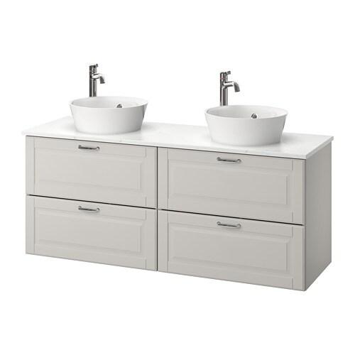 Godmorgon tolken kattevik m lavabo comptoir et vasque for Comptoir salle de bain ikea