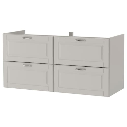 "GODMORGON meuble pour lavabo, 4 tiroirs Kasjön gris clair 47 1/4 "" 18 1/2 "" 22 7/8 """