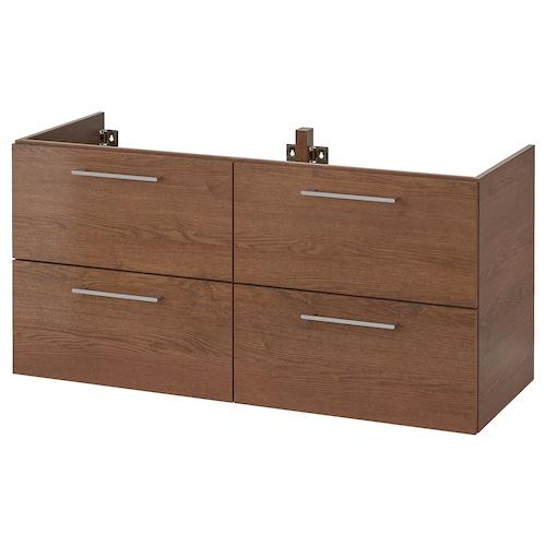 "GODMORGON meuble pour lavabo, 4 tiroirs effet frêne teinté brun 47 1/4 "" 18 1/2 "" 22 7/8 """
