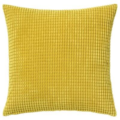 "GULLKLOCKA Housse de coussin, jaune, 20x20 """