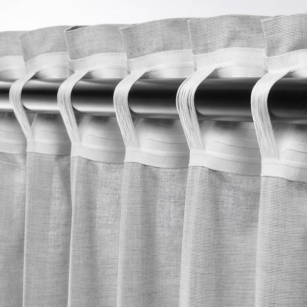 """HANNALILL Rideaux, 2 panneaux, gris, 57x118 """""""