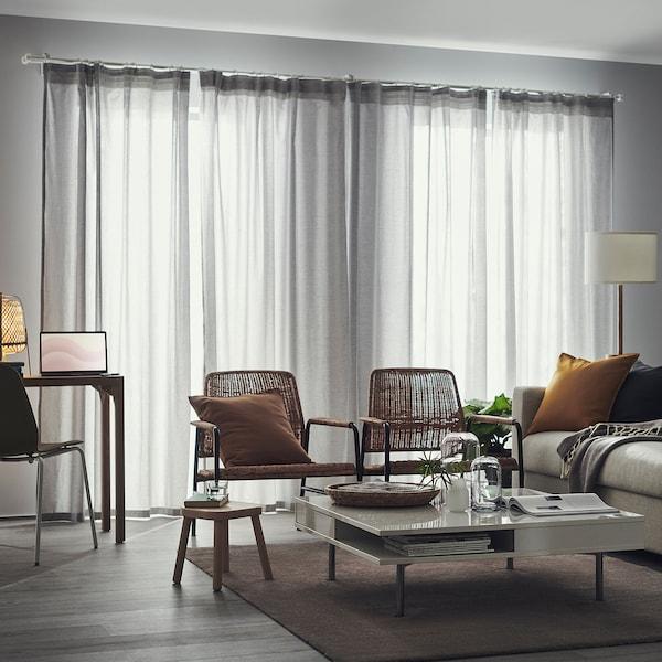"""HANNALILL Rideaux, 2 panneaux, gris, 57x98 """""""