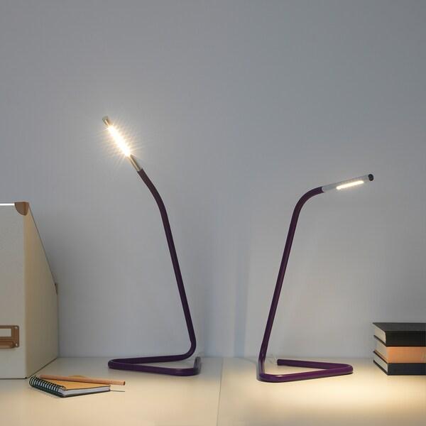 H 197 Rte Lampe De Travail 224 Del Mauve Gris Argent Ikea