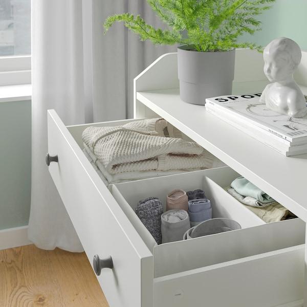 """HAUGA Commode à 6 tiroirs, blanc, 54 3/8x33 1/8 """""""