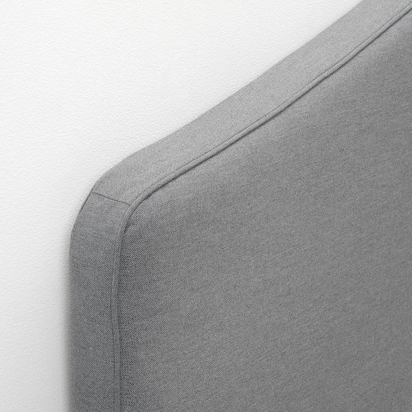HAUGA Lit matelassé, 4 boîtes rangement, Vissle gris, Grand deux places