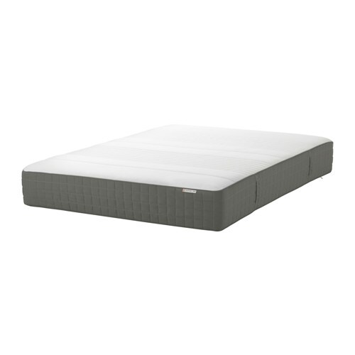 haugsv r matelas ressorts grand deux places mi ferme gris fonc ikea. Black Bedroom Furniture Sets. Home Design Ideas