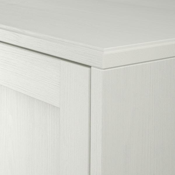 "HAVSTA Armoire avec plinthe, blanc, 31 7/8x18 1/2x35 """