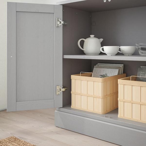 """HAVSTA Armoire avec plinthe, gris, 31 7/8x18 1/2x35 """""""