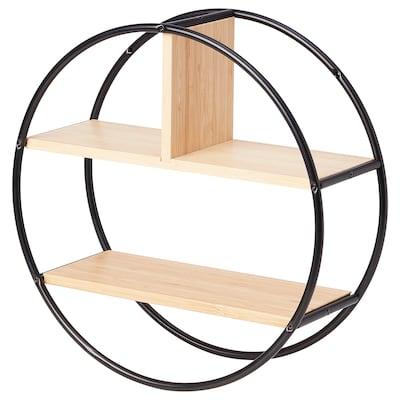 """HEDEKAS Étagère de présentation, rond/bambou, 15 3/4 """""""