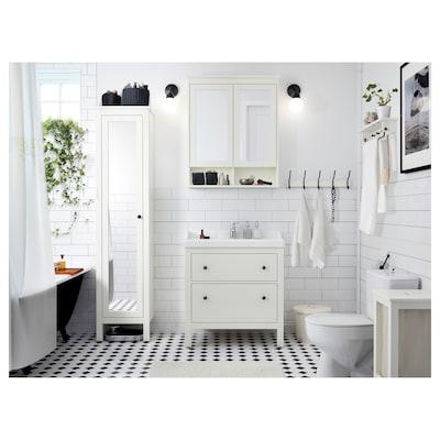 "HEMNES Armoire à pharmacie 2 portes miroir, blanc, 32 5/8x6 1/4x38 5/8 """