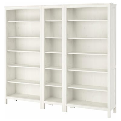 "HEMNES Bibliothèque, teinté blanc, 90 1/8x77 1/2 """