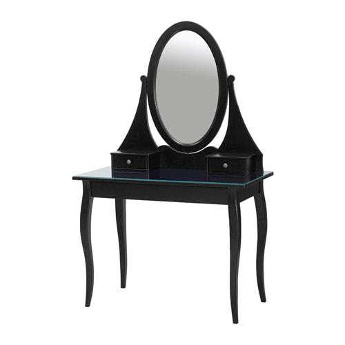 hemnes coiffeuse avec miroir - noir