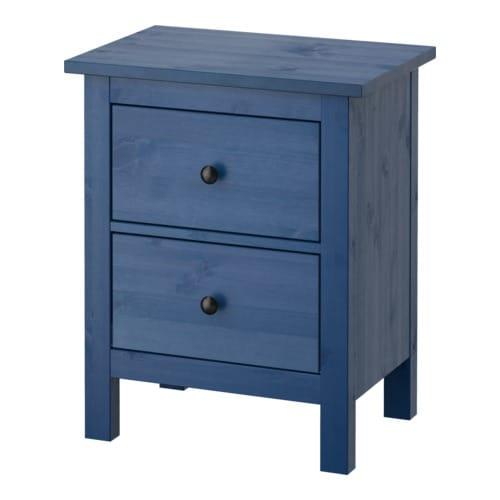 hemnes commode 2 tiroirs bleu 54x66 cm ikea. Black Bedroom Furniture Sets. Home Design Ideas