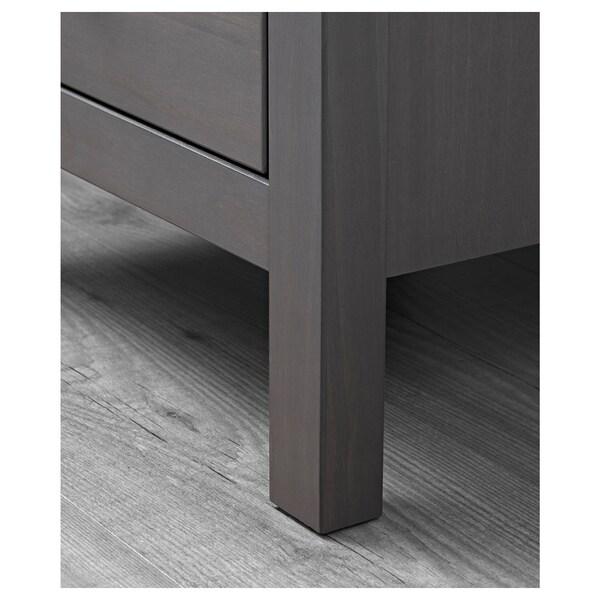 """HEMNES Commode à 2 tiroirs, gris foncé teinté, 21 1/4x26 """""""