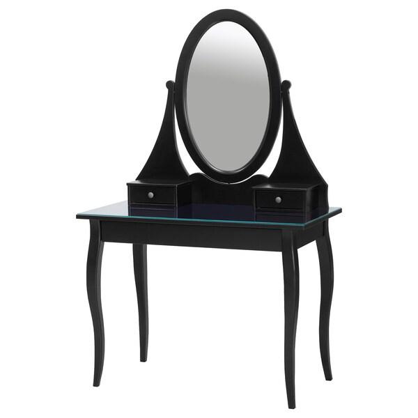 """HEMNES coiffeuse avec miroir noir 39 3/8 """" 19 5/8 """" 62 5/8 """""""