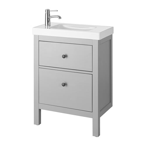 hemnes hagaviken meuble pour lavabo 2 tiroirs gris ikea. Black Bedroom Furniture Sets. Home Design Ideas
