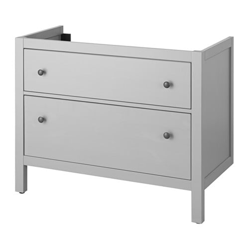 hemnes meuble pour lavabo 2 tiroirs gris 100x47x83 cm ikea. Black Bedroom Furniture Sets. Home Design Ideas