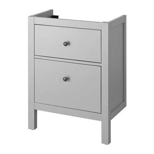 hemnes meuble pour lavabo 2 tiroirs gris 60x30x83 cm. Black Bedroom Furniture Sets. Home Design Ideas