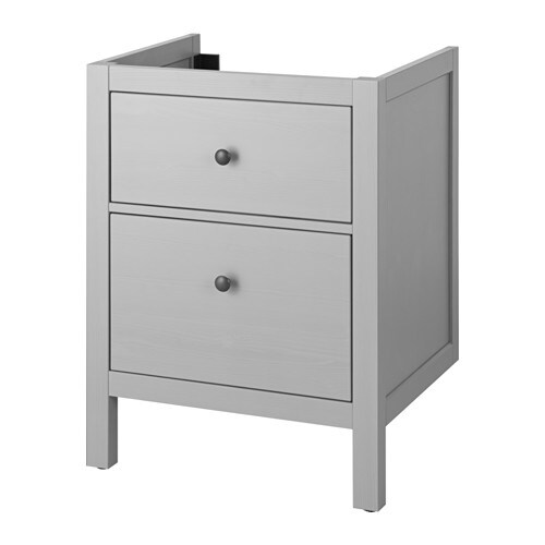 hemnes meuble pour lavabo 2 tiroirs gris 60x47x83 cm ikea. Black Bedroom Furniture Sets. Home Design Ideas