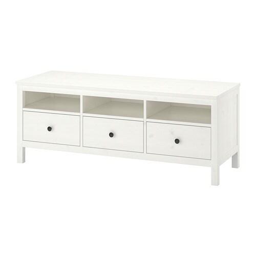 Hemnes Meuble Télé Teinté Blanc Ikea
