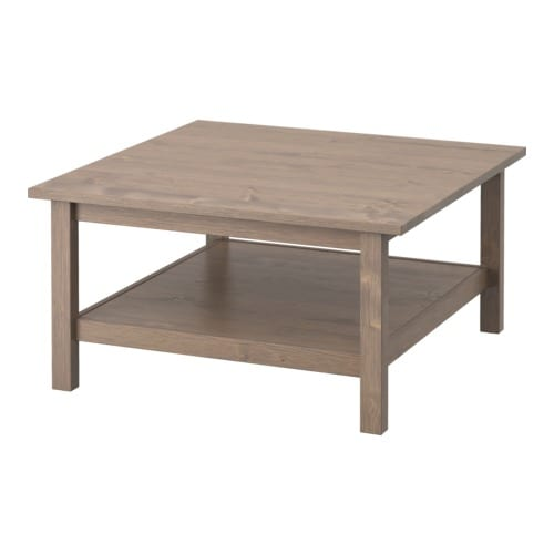 Hemnes table basse gris brun ikea for Table basse blanc ikea