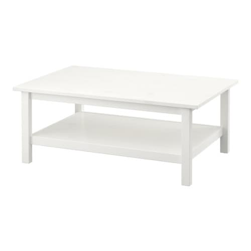 HEMNES Table basse   Bois massif; donne un aspect naturel.