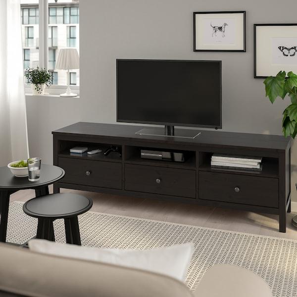 Hemnes meuble t l brun noir ikea Ikea meuble tele