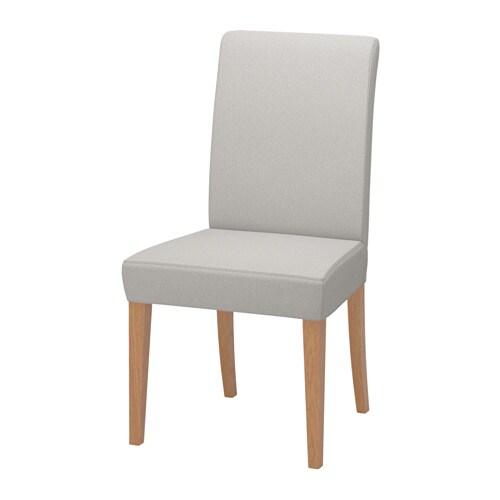 Henriksdal chaise orrsta gris clair ikea for Chaise ikea henriksdal