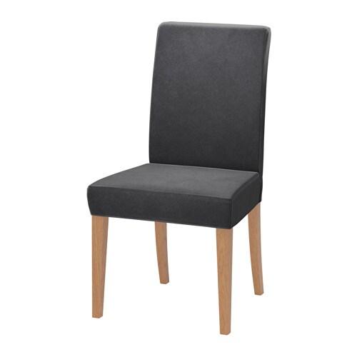 henriksdal chaise djuparp gris fonc ikea. Black Bedroom Furniture Sets. Home Design Ideas