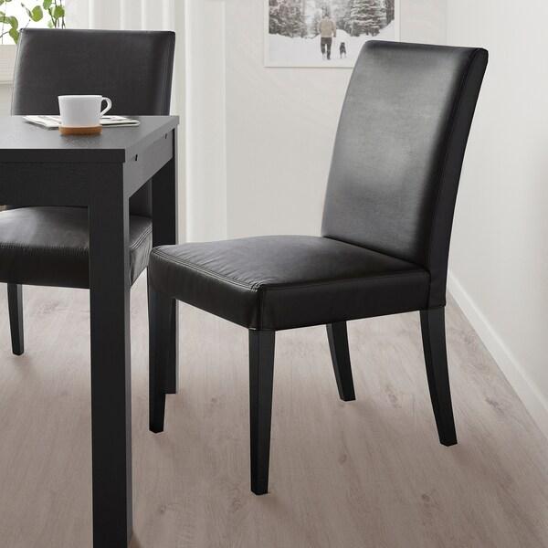 HENRIKSDAL Chaise, noir/Bomstad noir