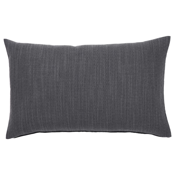 """HILLARED Housse de coussin, anthracite, 16x26 """""""