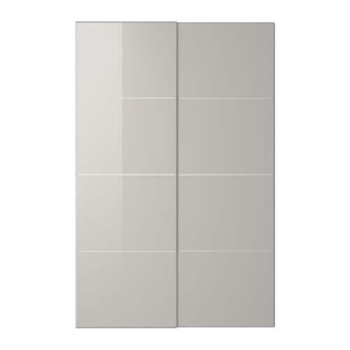 hokksund portes coulissantes 2 pi ces 150x236 cm amortisseur pour porte coulissante ikea. Black Bedroom Furniture Sets. Home Design Ideas