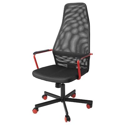 HUVUDSPELARE Chaise de jeux, noir