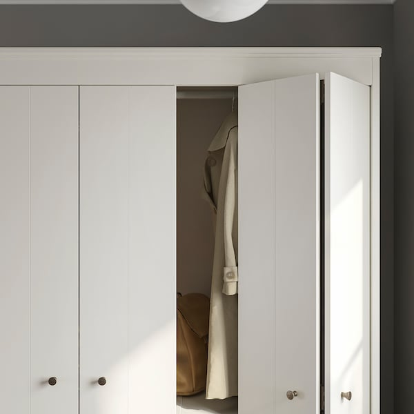 "IDANÄS Armoire-penderie, blanc, 47 5/8x83 1/8 """