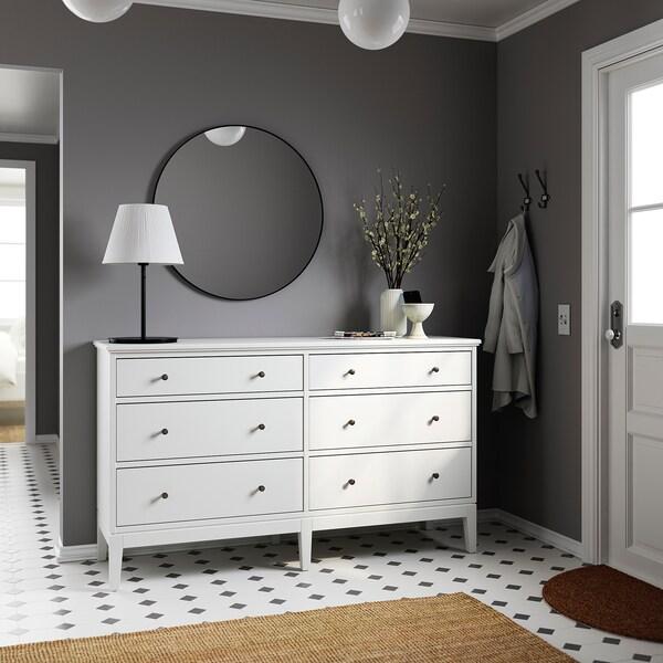 """IDANÄS Commode à 6 tiroirs, blanc, 63 3/4x37 3/8 """""""