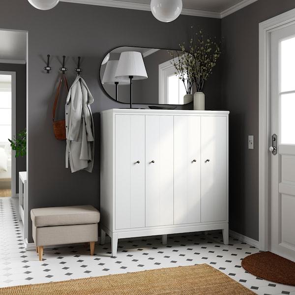 "IDANÄS Rangement à portes pliantes, blanc, 47 5/8x53 1/8 """