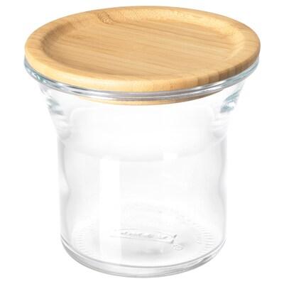 IKEA 365+ Bocal avec couvercle, verre/bambou, 34 oz
