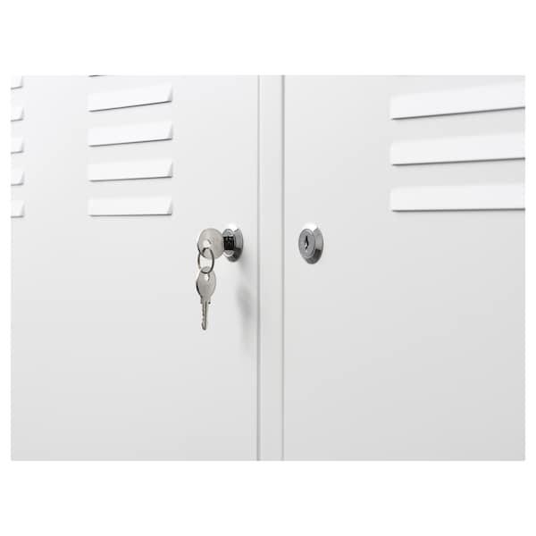"IKEA PS Armoire métallique, blanc, 46 7/8x24 3/4 """